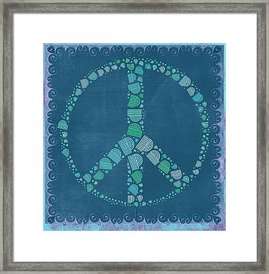 Peace Symbol Design - Tq19at02 Framed Print by Variance Collections