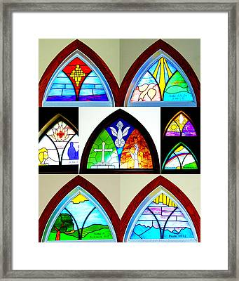 Peace To All Who Enter Here Framed Print