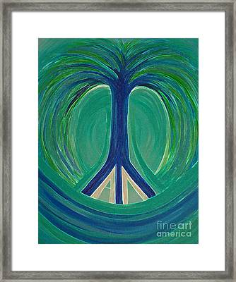 Peace Tree By Jrr Framed Print