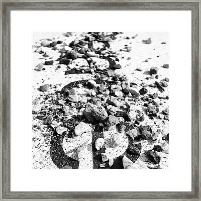 Peace Under The Rubble Framed Print by Christy Beckwith