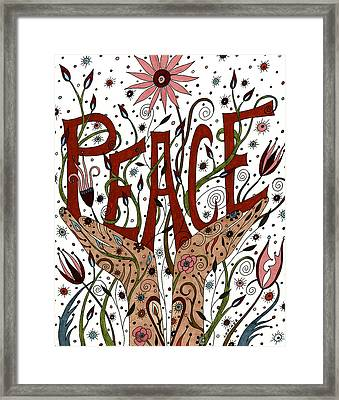 Peace Framed Print by Valerie Lorimer