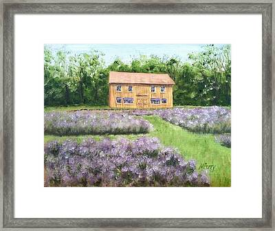 Peace Valley Lavender Farm Framed Print
