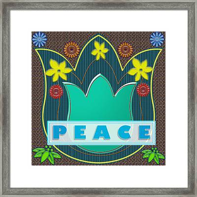 Peace War Political Social Economic Poverty Terrorism Justice Background Designs  And Color Tones N  Framed Print by Navin Joshi