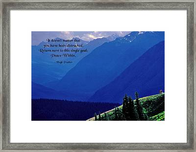 Peace Within Framed Print by Mike Flynn