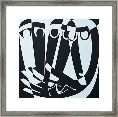 Peace Work, 1999 Acrylic On Board Framed Print by Ron Waddams