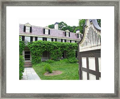 Peacefield The Old House Framed Print