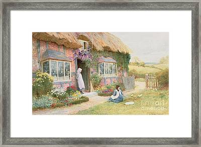 Peaceful Afternoon Framed Print by Arthur Claude Strachan