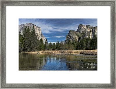 Peaceful Afternoon In Yosemite Framed Print by Sandra Bronstein