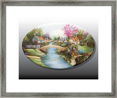 Peaceful Alpine Village 1 Framed Print