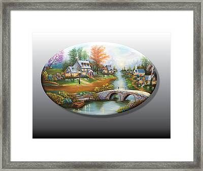 Peaceful Alpine Village 2 Framed Print