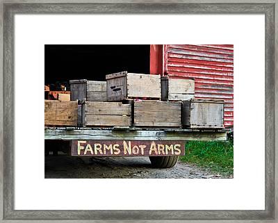 Peaceful Applecart  Framed Print by DustyFootPhotography