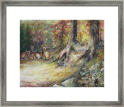 Peaceful Autumn Afternoon Framed Print by Bonnie Goedecke
