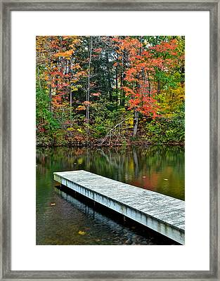 Peaceful Autumn Day Framed Print by Frozen in Time Fine Art Photography
