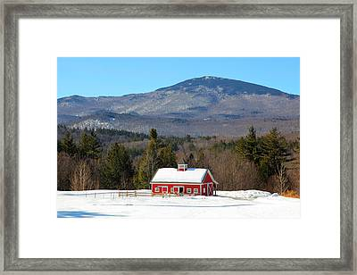 Framed Print featuring the photograph Peaceful Barn by Larry Landolfi