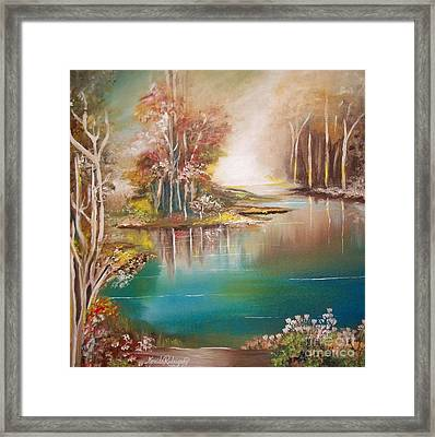 Peaceful Bayou Framed Print