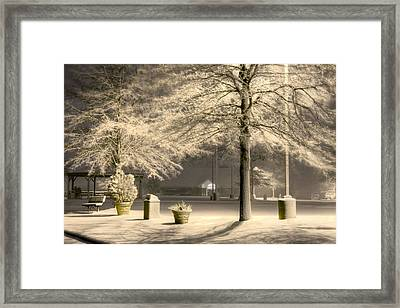 Peaceful Blizzard Framed Print