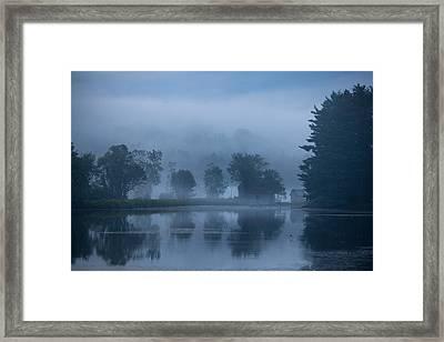 Peaceful Blue Framed Print by Karol Livote