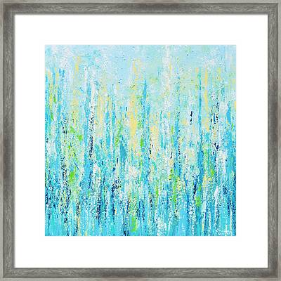 Peaceful Blues Framed Print by Christine Krainock