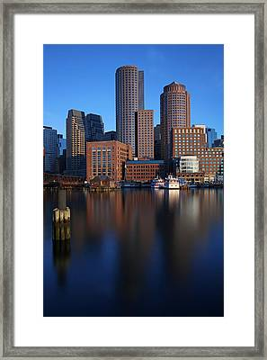 Peaceful Boston Framed Print by Juergen Roth