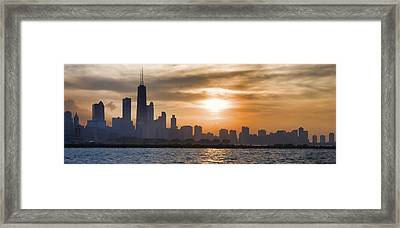 Peaceful Chicago Framed Print