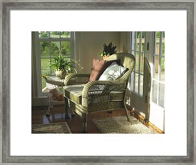 Peaceful Corner Framed Print