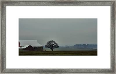 Peaceful Country Morning Framed Print