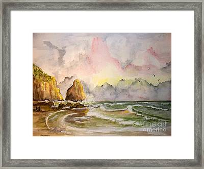 Peaceful Cove Framed Print