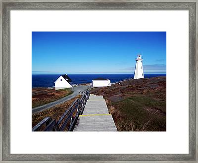 Peaceful Day At Cape Spear Framed Print