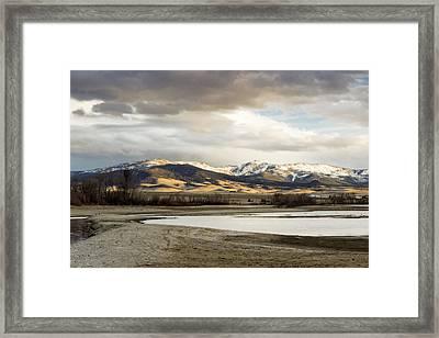 Peaceful Day In Helena Montana Framed Print by Dana Moyer