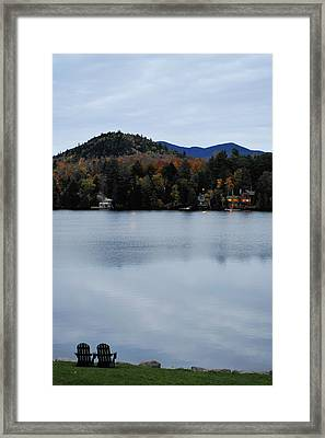Peaceful Evening At The Lake Framed Print by Terry DeLuco