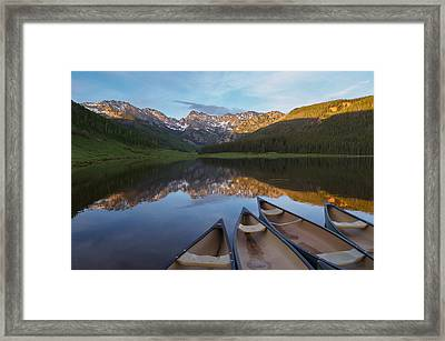 Peaceful Evening In The Rockies Framed Print