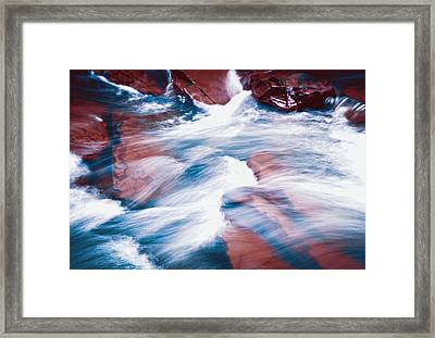 Peaceful Flow Framed Print by Kellice Swaggerty