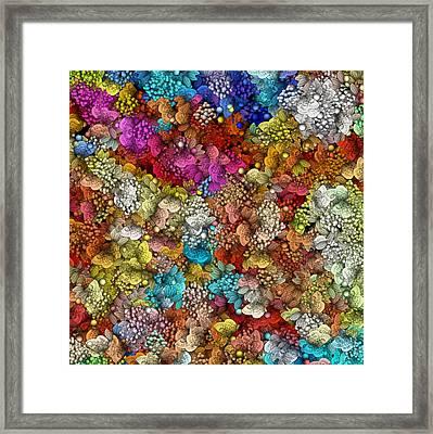 Peaceful Flowers  Framed Print by George Curington