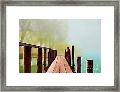 Peaceful Foggy Day Framed Print by Liane Wright