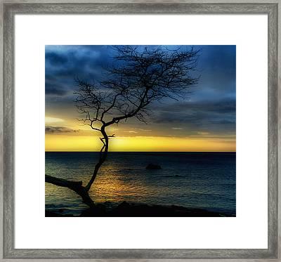 Peaceful Hawaii Framed Print by Kim Hojnacki