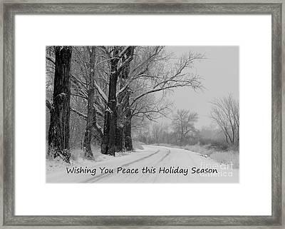 Peaceful Holiday Card Framed Print by Carol Groenen