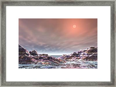 Framed Print featuring the digital art Peaceful by Jacqueline Lloyd
