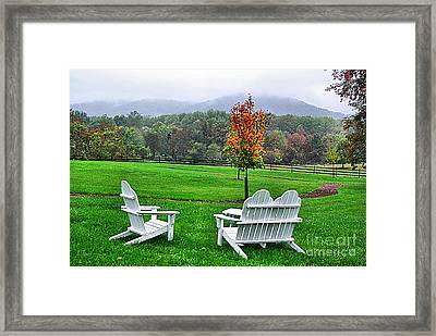 Framed Print featuring the photograph Peaceful Spot  by John S