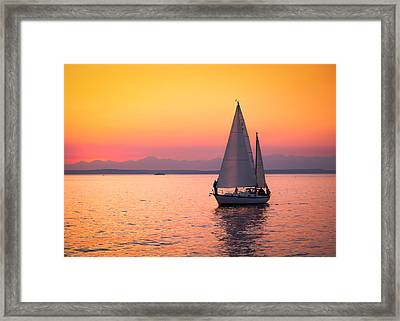 Peaceful Journey Framed Print by Anthony J Wright