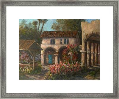 Peaceful Landscape Paintings Framed Print
