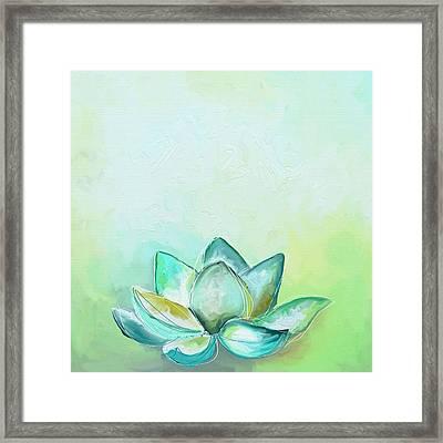 Peaceful Lotus Framed Print