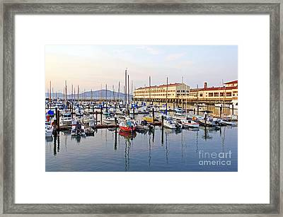 Framed Print featuring the photograph Peaceful Marina by Kate Brown
