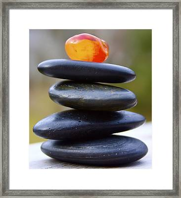 Peaceful Meditation Rocks Framed Print