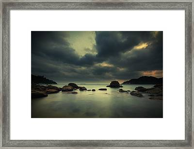 Framed Print featuring the photograph Peaceful Moment 1 by Afrison Ma