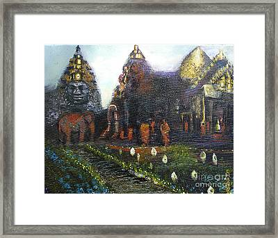 Peaceful Moment In Ankur Wat Framed Print