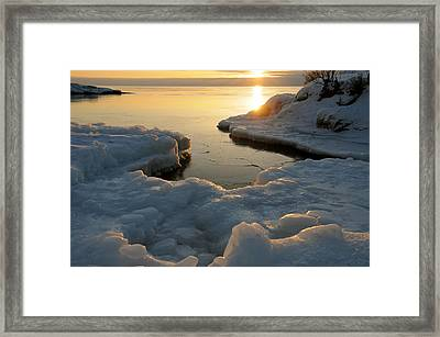 Framed Print featuring the photograph Peaceful Moment On Lake Superior by Sandra Updyke