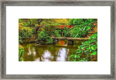 Peaceful Morning At Kubota Gardens Framed Print