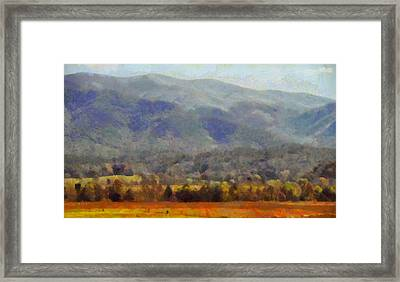 Peaceful Morning In The Smoky Mountains Framed Print by Dan Sproul