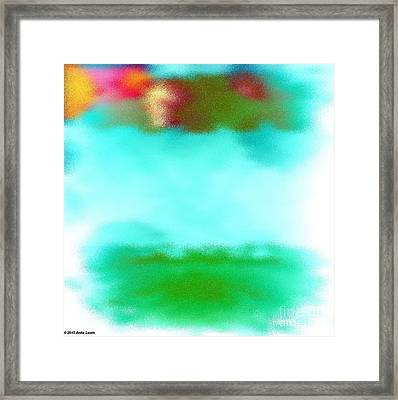 Peaceful Noise Framed Print by Anita Lewis