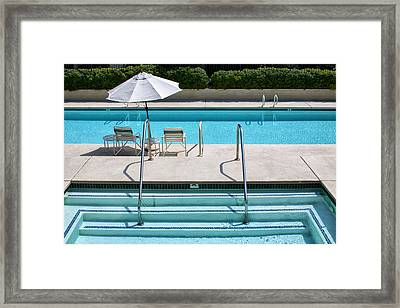 Peaceful Oasis Palm Springs Framed Print by William Dey